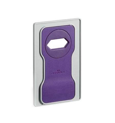фото: Держатель-подставка на розетку для телефона Durable Varicolor фиолетовый-серый 7735-12
