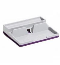 фото: Держатель настольный для смартфонов Durable Varicolor Smart Office фиолетовый-серый 7613-12