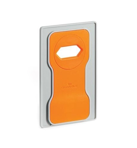 фото: Держатель-подставка на розетку для телефона Durable Varicolor оранжевый-серый 7735-09