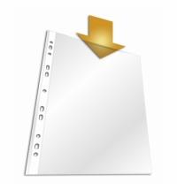 Файл-вкладыш А4+ Durable матовый 45 мкм, 100 шт/уп, 2642-19