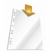 Файл-вкладыш А4+ Durable глянцевый 45 мкм, 100 шт/уп, 2641-19