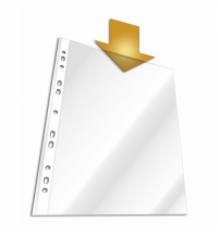 фото: Файл-вкладыш А4+ Durable глянцевый 60 мкм, 50 шт/уп, 2644-19