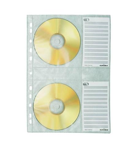 фото: Файл-вкладыш А4 для CD-дисков Durable 4 кармана + 4 карточки на листе 5 шт/уп, 5222-19