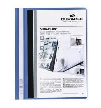 Скоросшиватель пластиковый Durable Duraplus синий А4, 2579-07