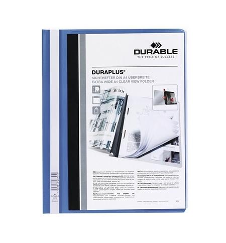 фото: Скоросшиватель пластиковый Durable Duraplus синий А4, 2579-07