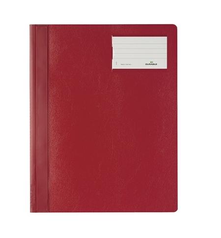 фото: Скоросшиватель пластиковый Durable красный А4+, 2500-03