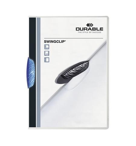 фото: Пластиковая папка с клипом Durable Swingclip синяя А4, до 30 листов, 2260-07