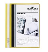 Скоросшиватель пластиковый Durable Duraplus желтый А4, 2579-04