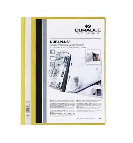 фото: Скоросшиватель пластиковый Durable Duraplus желтый А4, 2579-04