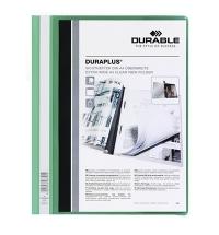 Скоросшиватель пластиковый Durable Duraplus зеленый А4, 2579-05