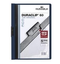 Пластиковая папка с клипом Durable Duraclip синяя А4, до 60 листов, 2209-07