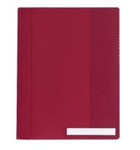 Скоросшиватель пластиковый Durable Clear View красный А4, 2510-03