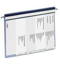 Скоросшиватель пластиковый Durable подвесной голубой 5 разделителей, 2555-06