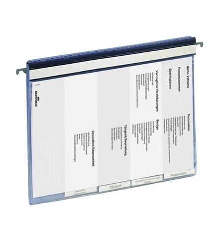 фото: Скоросшиватель пластиковый Durable подвесной голубой 5 разделителей, 2555-06