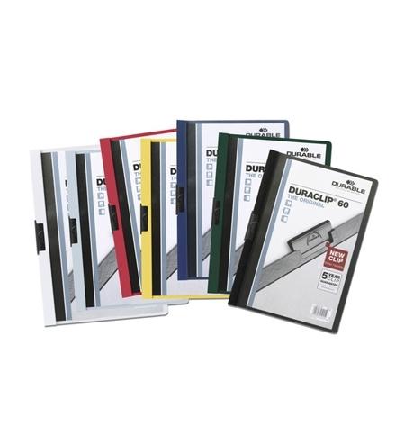 фото: Пластиковая папка с клипом Durable Duraclip ассорти А4, до 60 листов, 2209-00
