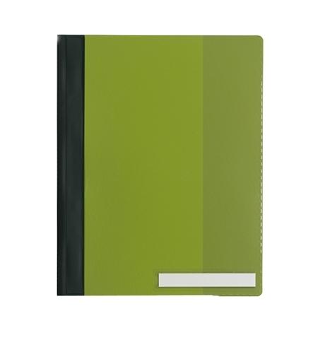 фото: Скоросшиватель пластиковый Durable Clear View зеленый А4, 2510-05