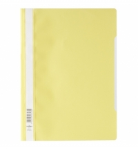 Скоросшиватель пластиковый Durable желтый А4, 2573-04