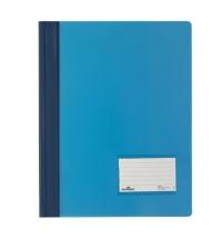 Скоросшиватель пластиковый Durable голубой А4+, 2680-06