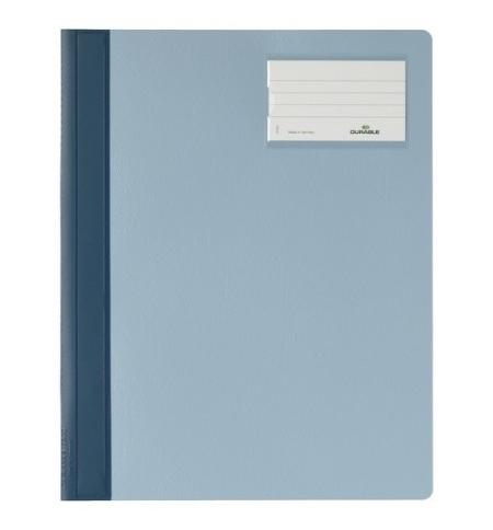 фото: Скоросшиватель пластиковый Durable голубой А4+, 2500-06
