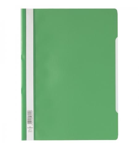 фото: Скоросшиватель пластиковый Durable зеленый A4, 2573-05
