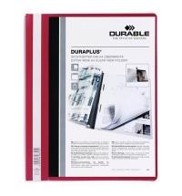 Скоросшиватель пластиковый Durable Duraplus красный А4, 2579-03