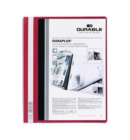 фото: Скоросшиватель пластиковый Durable Duraplus красный А4, 2579-03