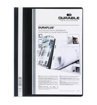 Скоросшиватель пластиковый Durable Duraplus черный А4, 2579-01