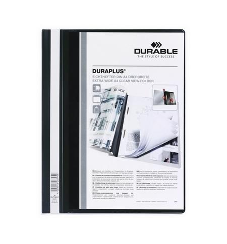 фото: Скоросшиватель пластиковый Durable Duraplus черный А4, 2579-01