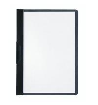 Пластиковая папка с клипом Durable Duraclip plus черная А5, до 30 листов, 2217-01