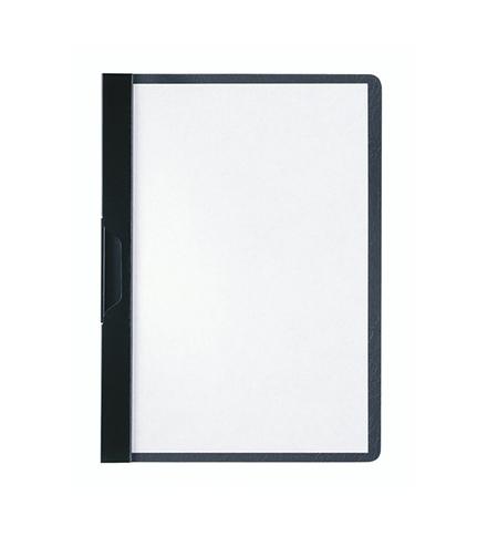 фото: Пластиковая папка с клипом Durable Duraclip plus черная А5, до 30 листов, 2217-01