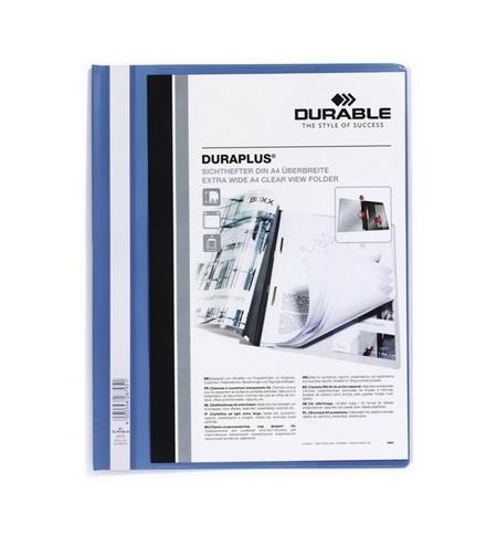фото: Скоросшиватель пластиковый Durable Duraplus голубой А4, 2579-06