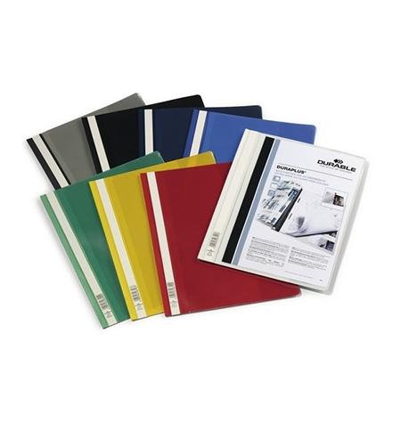 фото: Скоросшиватель пластиковый Durable Duraplus ассорти А4, 2579-00