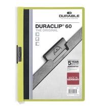 Пластиковая папка с клипом Durable Duraclip зеленая А4, до 60 листов, 2209-05