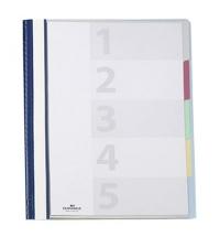 Скоросшиватель пластиковый Durable Diviso Flex синий А4, 2557-06