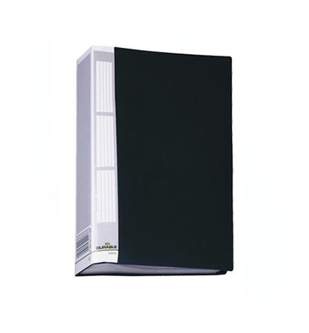 фото: Папка файловая Durable Duralook черная А4, на 50 файлов, 2425-01