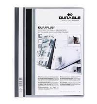 Скоросшиватель пластиковый Durable Duraplus серый А4, 2579-10