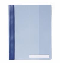 Скоросшиватель пластиковый Durable Clear View голубой А4, 2510-06