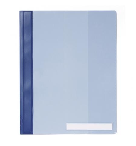 фото: Скоросшиватель пластиковый Durable Clear View голубой А4, 2510-06