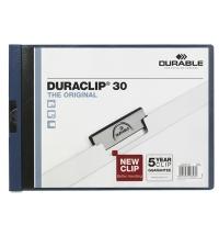 Пластиковая папка с клипом Durable Duraclip Landscape темно-синяя до 30 листов, A4, до 30 листов, 2246-07