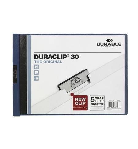 фото: Пластиковая папка с клипом Durable Duraclip Landscape темно-синяя до 30 листов, A4, до 30 листов, 2246-07