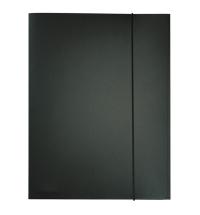 Пластиковая папка на резинке Durable черная A4, до 150 листов, 2323-01