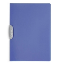 Пластиковая папка с клипом Durable Swingclip Color серо-голубая А4, до 30 листов, 2266-14