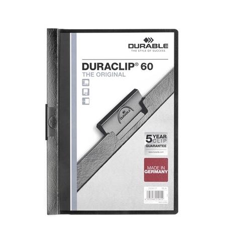 фото: Пластиковая папка с клипом Durable Duraclip ассорти А4, до 60 листов, 2209-01