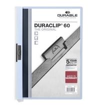Пластиковая папка с клипом Durable Duraclip голубая А4, до 60 листов, 2209-06
