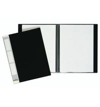 Папка файловая Durable Duralook черная A4, на 20 файлов, 2422-01
