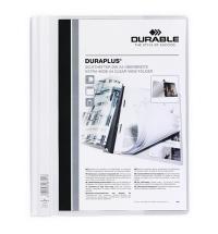 Скоросшиватель пластиковый Durable Duraplus белый А4, 2579-02