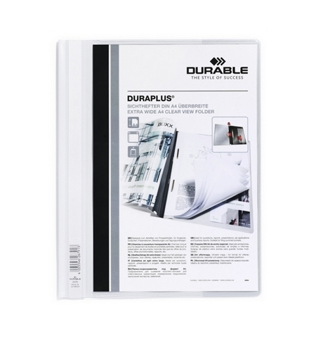 фото: Скоросшиватель пластиковый Durable Duraplus белый А4, 2579-02