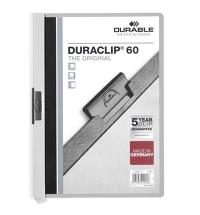 Пластиковая папка с клипом Durable Duraclip серая А4, до 60 листов, 2209-10