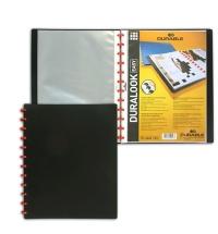 Папка файловая Durable Duralook Easy черная на 20 файлов, А4, 2426-01