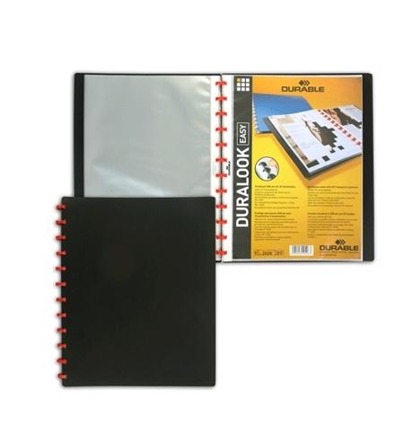 фото: Папка файловая Durable Duralook Easy черная на 20 файлов, А4, 2426-01